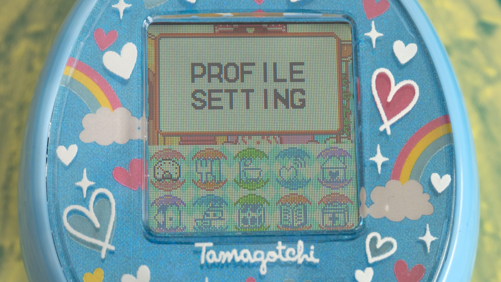 That tiny screen feels a bit cramped when you pop into the Tamagotchi On's menus; there's a lot of options hidden away in many sub-screens. It might take a while for you to learn your way around.