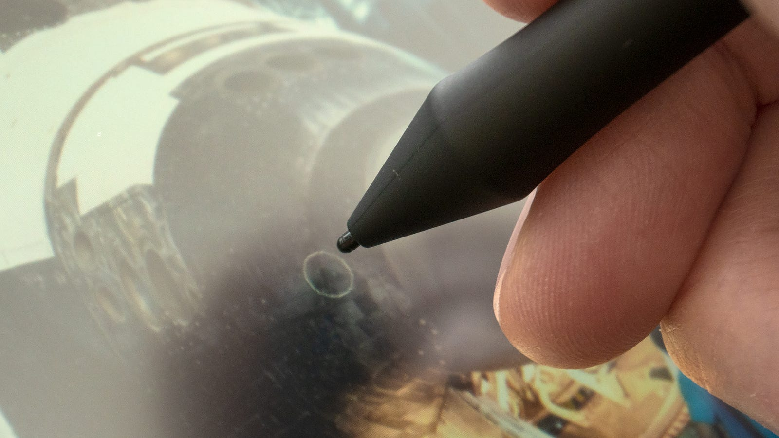 As with last year's Wacom Cintiq 16, I find the gap between the surface of the Wacom One and the LCD screen beneath to be a bit too large for my tastes and workflows. It's fine for painting and drawing, but I find it distracting when trying to close crop and mask objects in Photoshop.