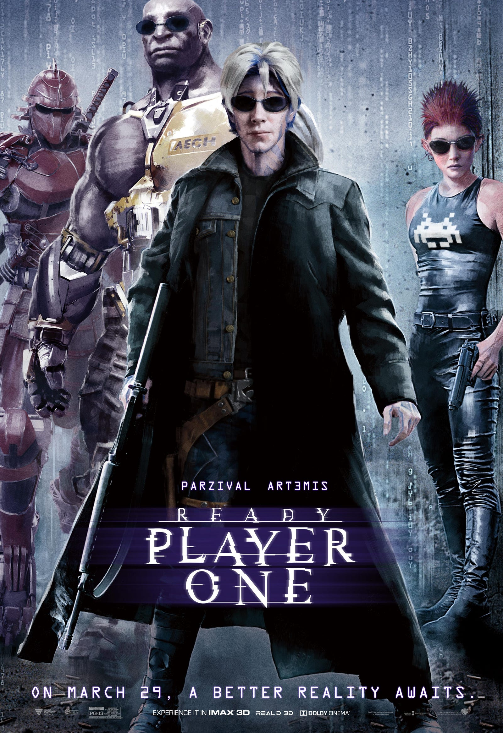 Ready Player One as The Matrix. All Images: Warner Bros.