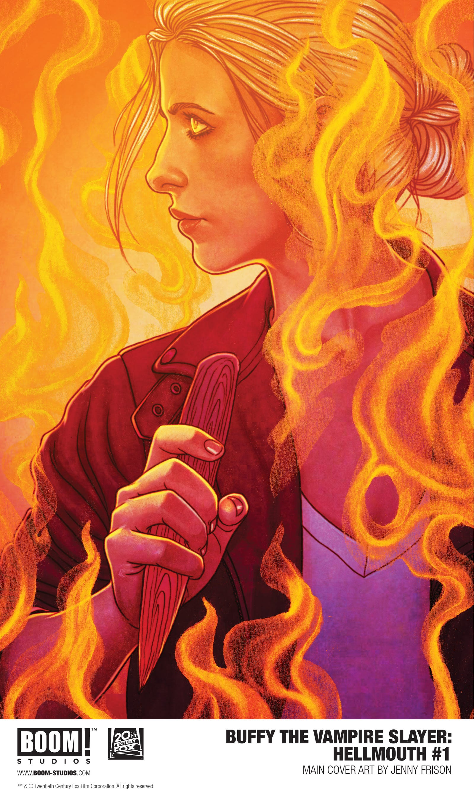 Main cover art for Hellmouth #1.