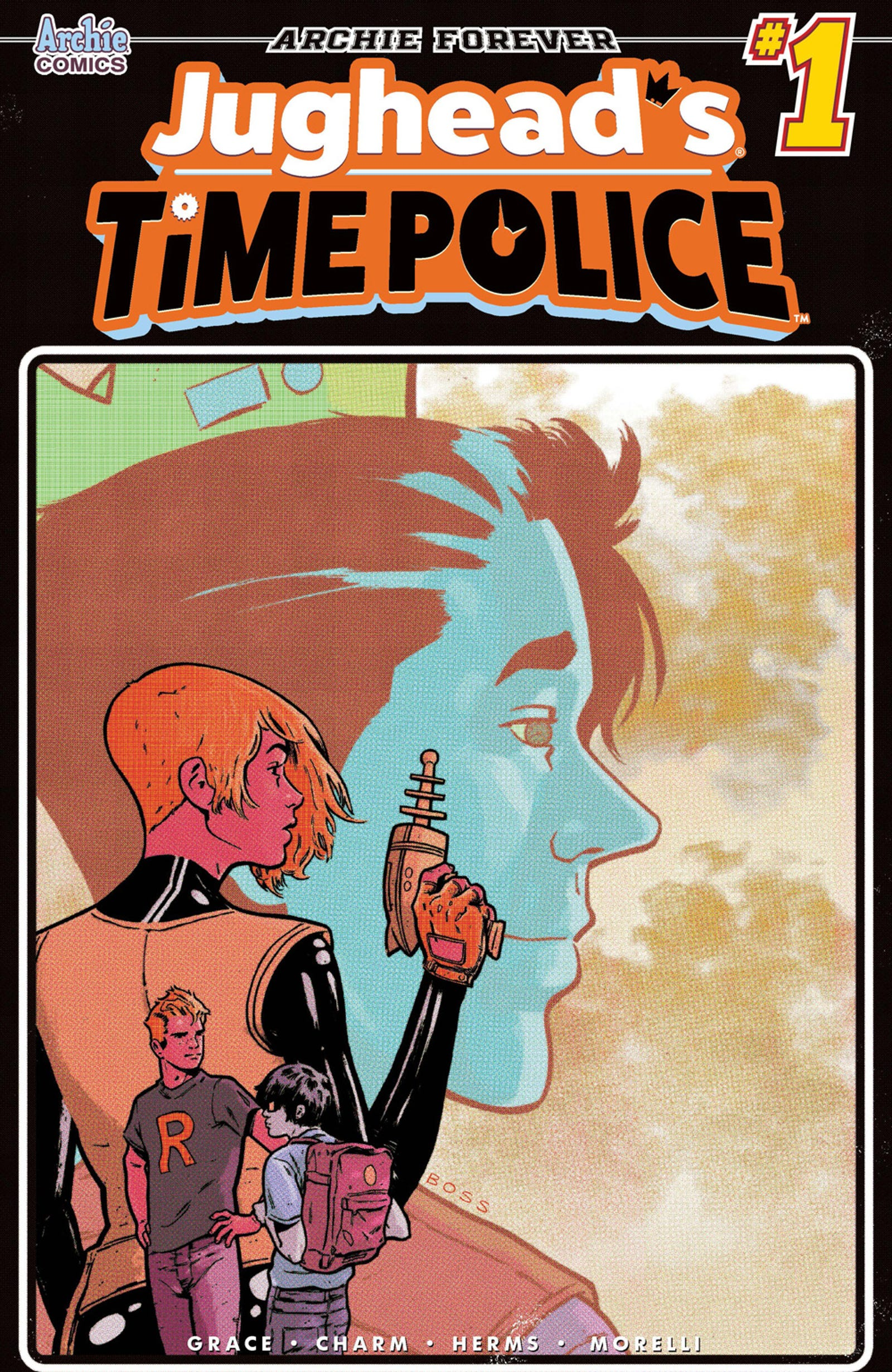 The variant covers for Time Police #1.