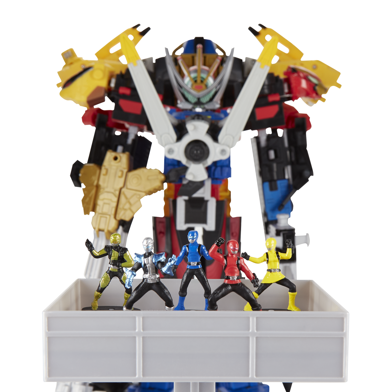 Illustration for article titled Your First Look at Hasbros Gigantic iPower Rangers: Beast Morphers/i Ultrazord Set