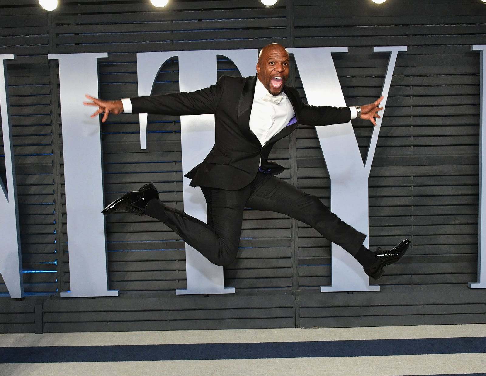 Terry Crews catches some air. (Dia Dipasupil/Getty Images)