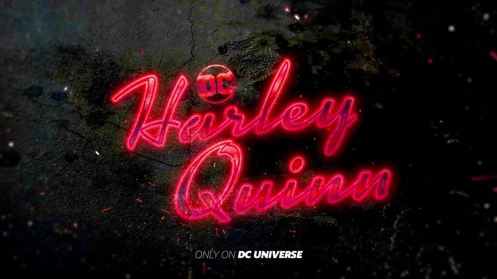 The logo for the new Harley Quinn show.