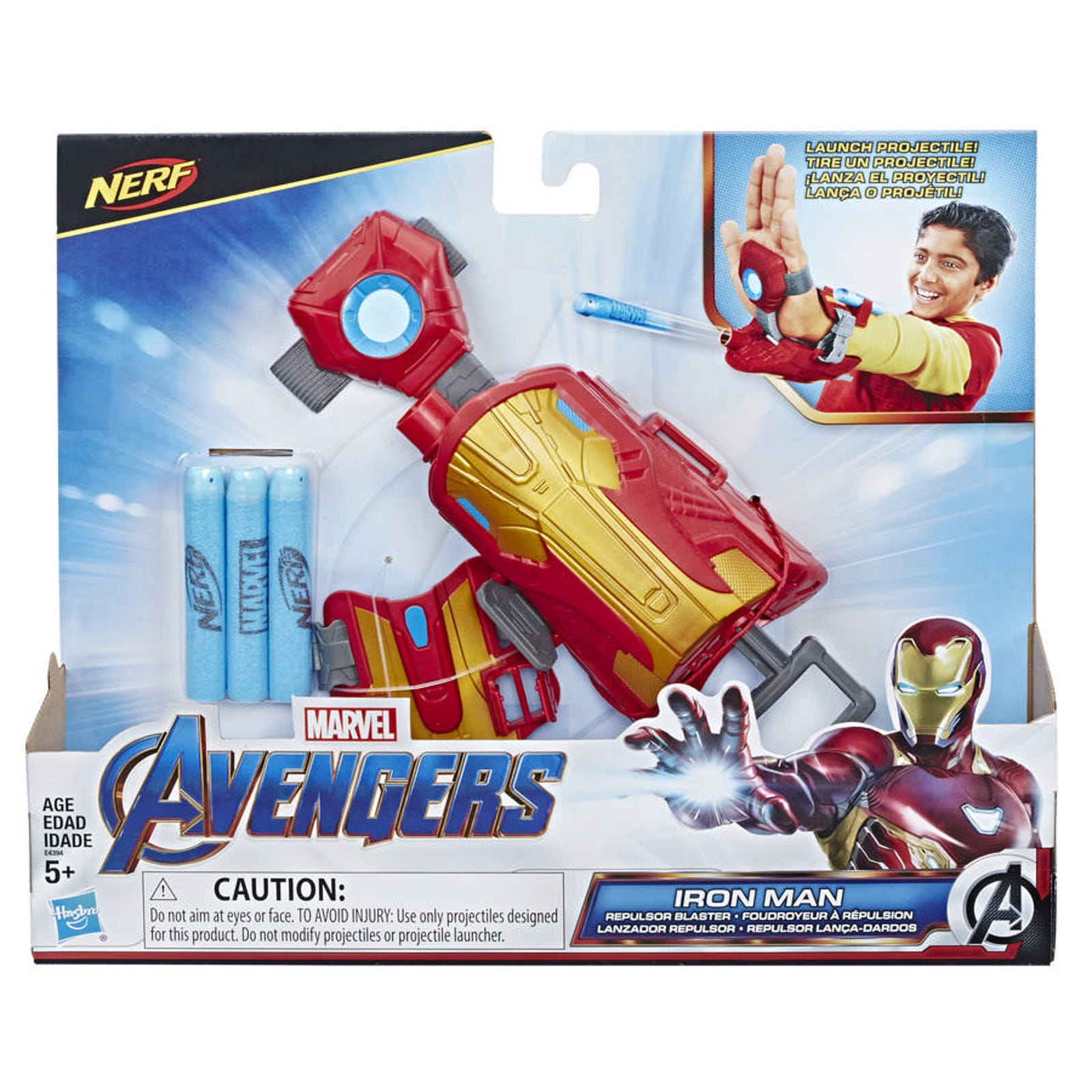 The Nerf integration on Iron Man's blaster here makes way more sense than that wild assembler.