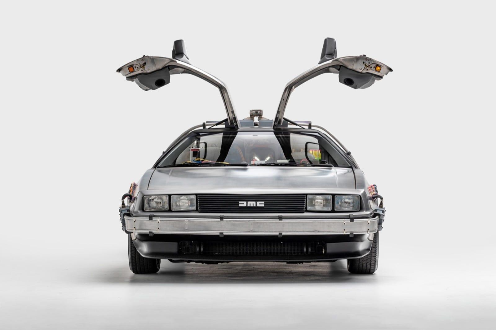De Lorean time machine, driven in Back to the Future (1985), Back to the Future II (1989), and Back to the Future III (1990)Designers: Ron Cobb & Andrew Probert