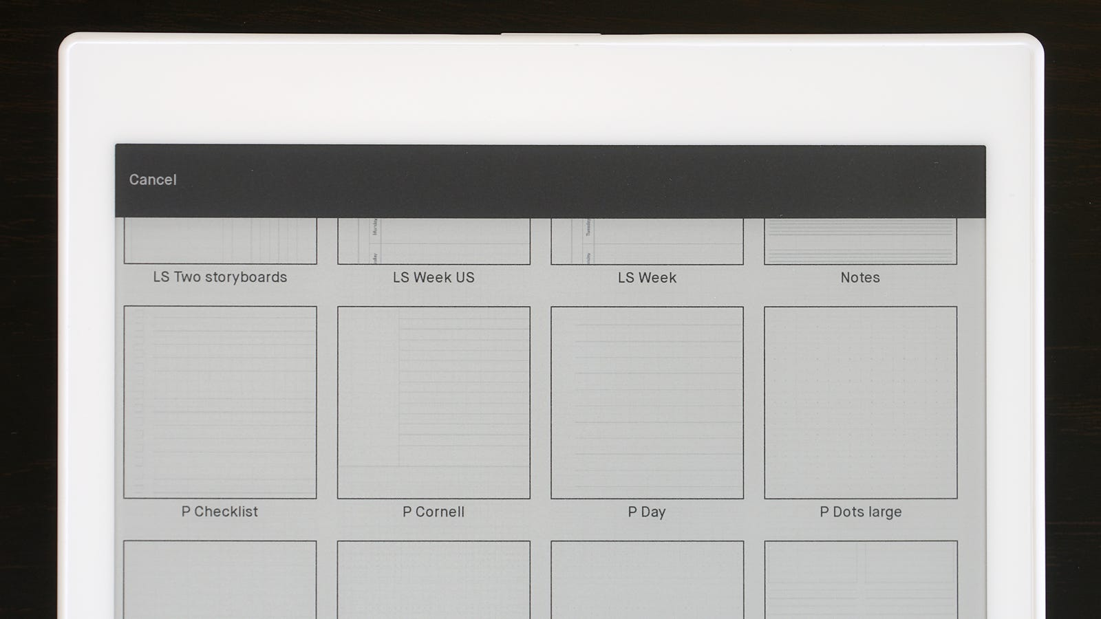A giant list of blank template pages will help keep your notes looking neat.