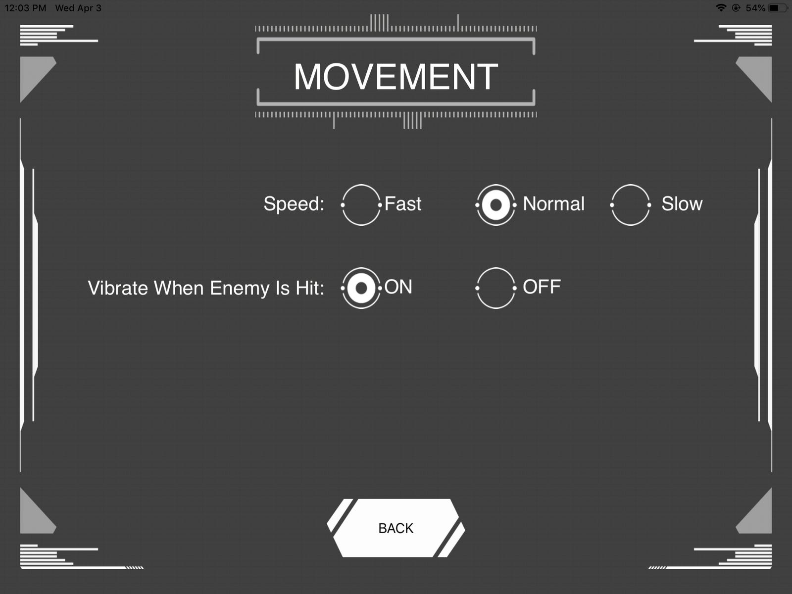 "You can adjust the speed of the robot during battle, but the ""Fast"" option is simply too fast for touchscreen controls."