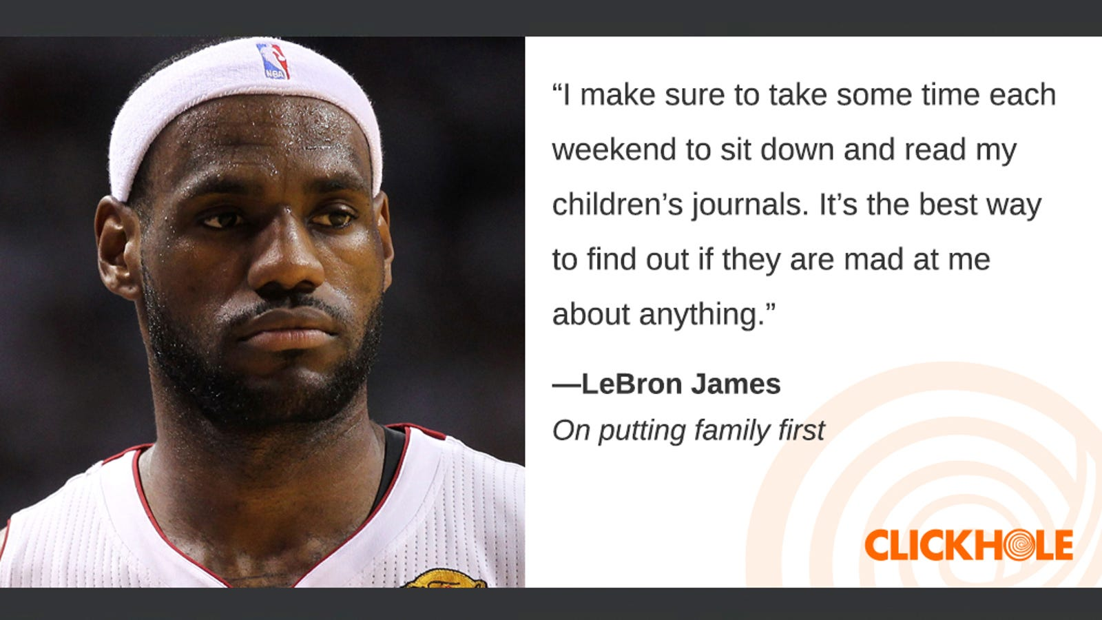 Illustration for article titled Find Out What LeBron James, Ron Perlman, Dale Earnhardt Jr., And More Have To Say