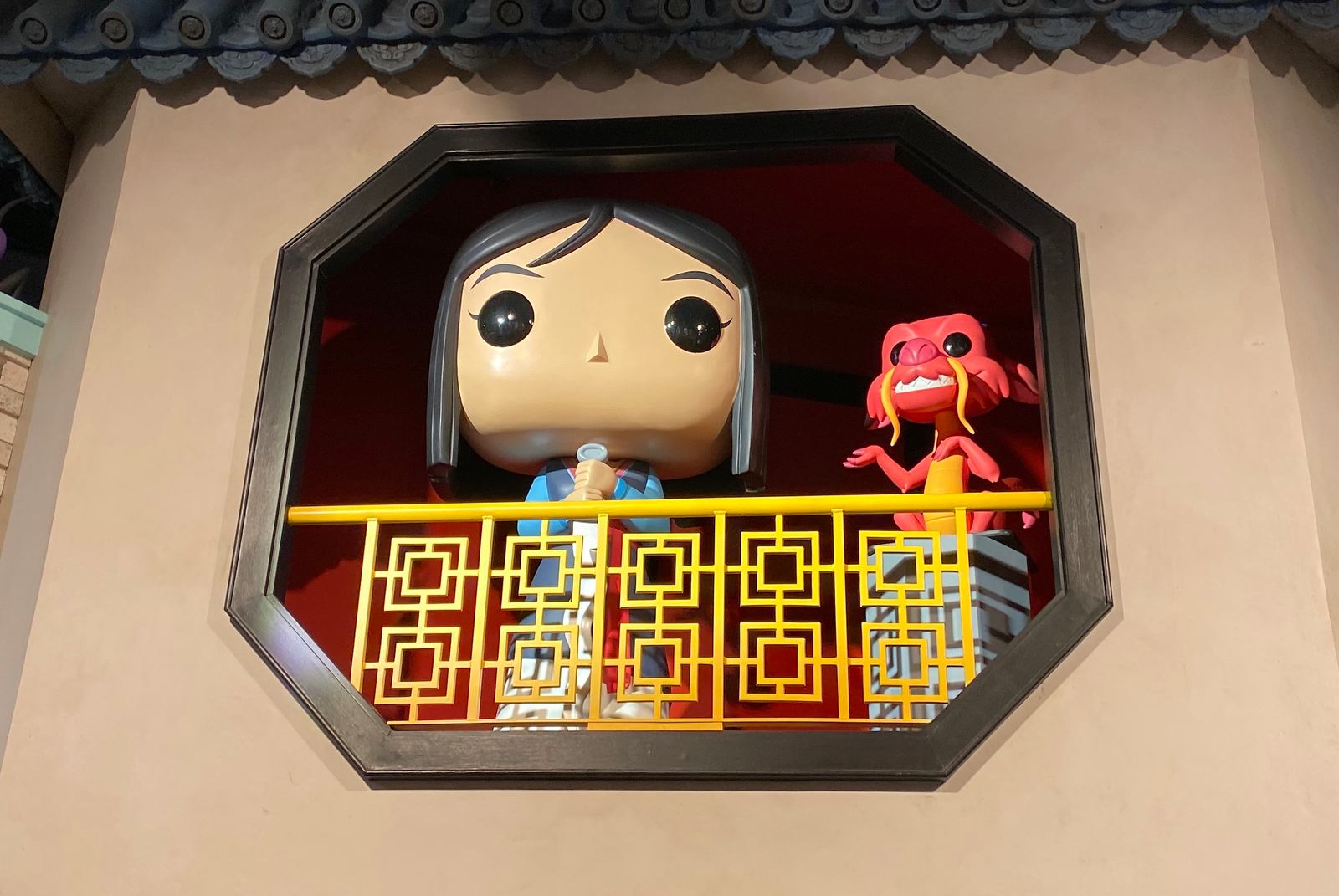 Mulan and Mushu, waiting for the live-action movie.
