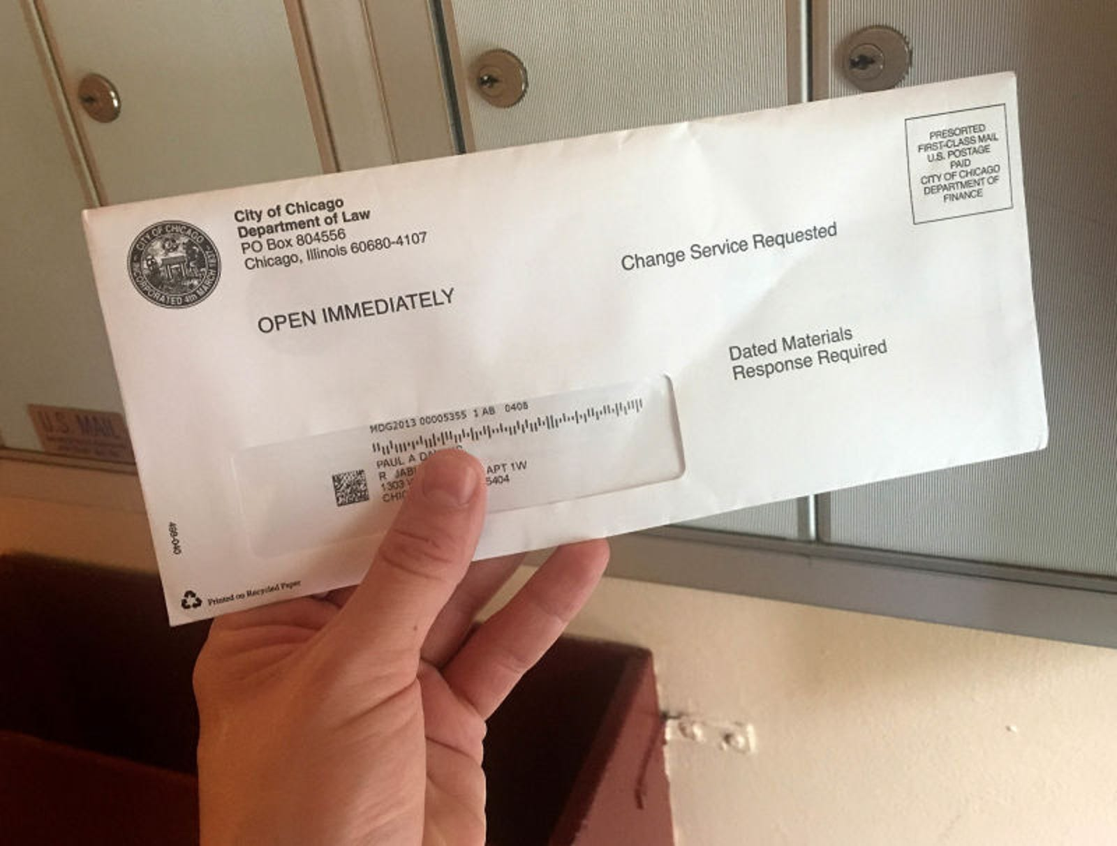 Mail For Former Resident Looks Important