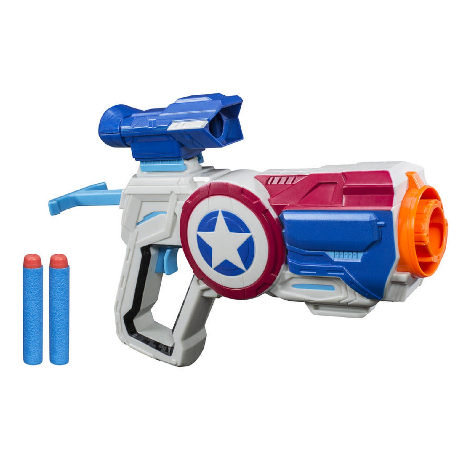 Not content with a shield-gun, Steve also gets a gun-gun. This line will set you back $25 apiece.