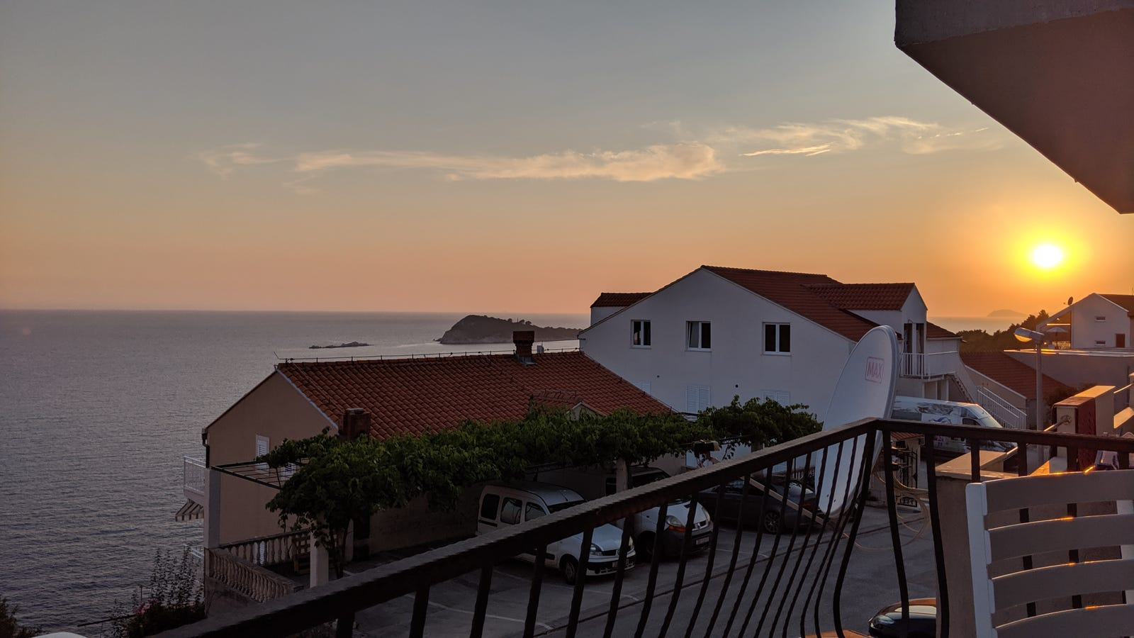 This is the sunset view from our apartment in Croatia. We could barely enjoy how gorgeous it was because the flight in was also pretty rough! We were supposed to meet GC's sister and father for dinner, but she just needed to sleep hard for 12 hours.