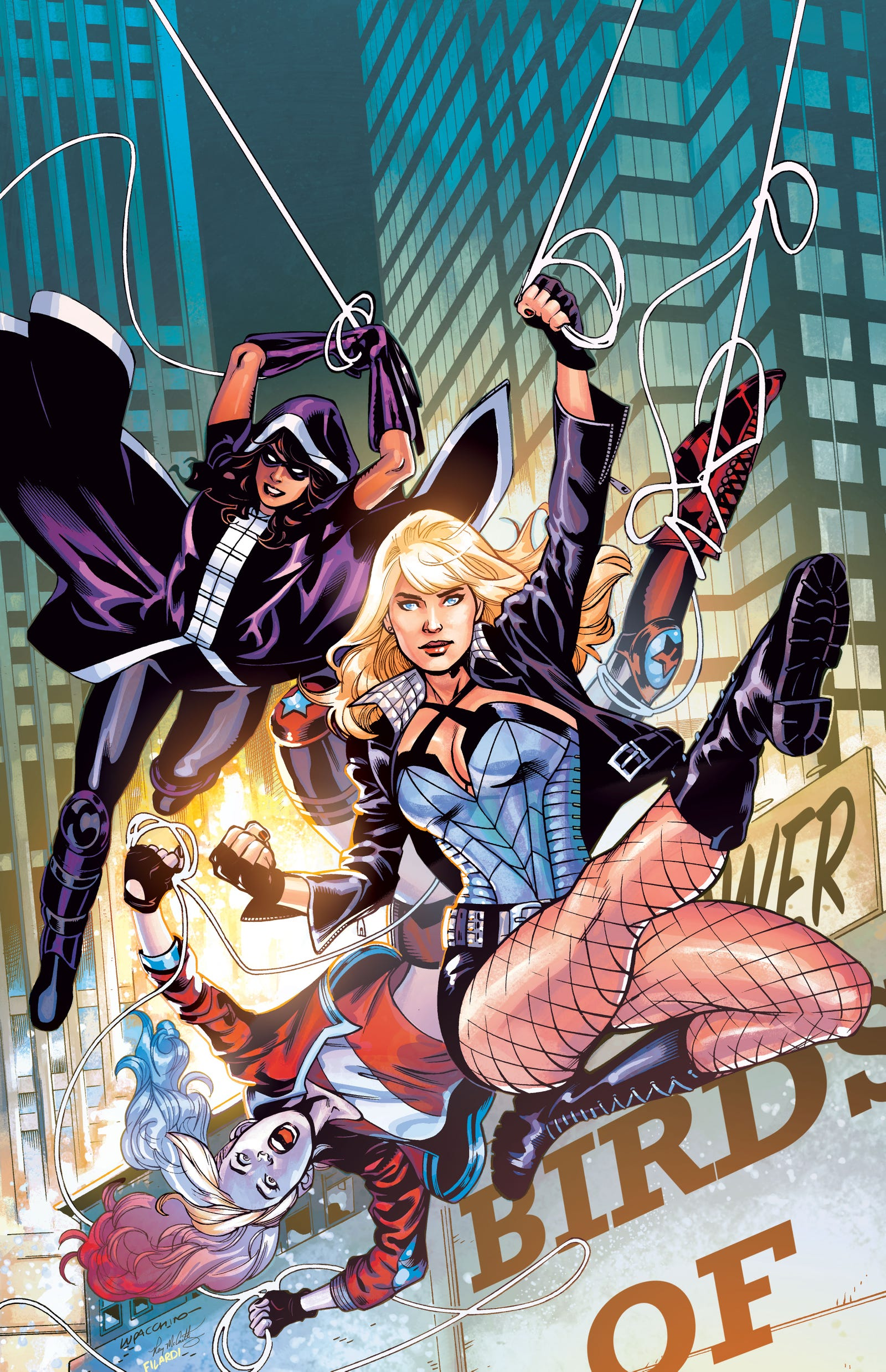The full main cover for Birds of Prey #1