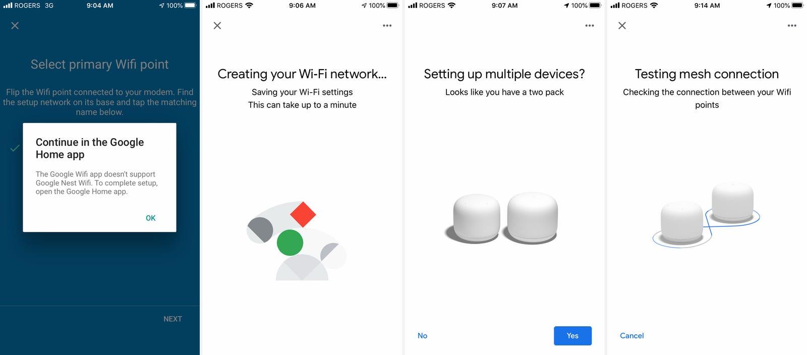 google nest wifi dashboard