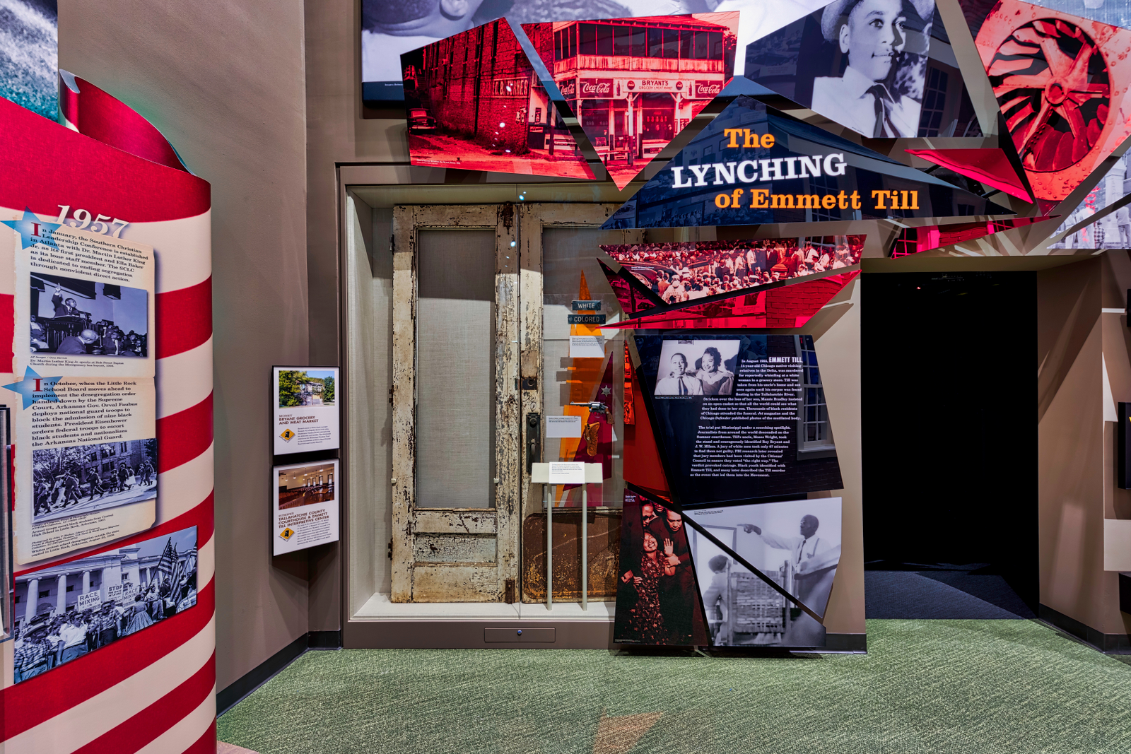 """""""The Lynching of Emmett Till"""" exhibit at the Mississippi Civil Rights Museum (courtesy of Mississippi Civil Rights Museum)"""