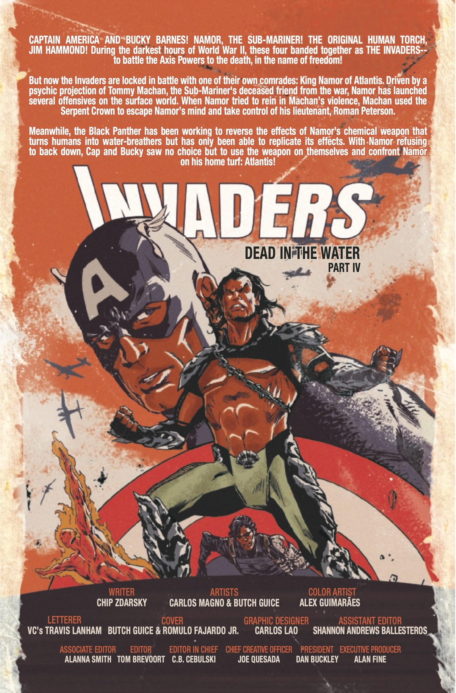 Illustration for article titled Captain America and Winter Soldier infiltrate Atlantis in this emInvaders /em#10 exclusive