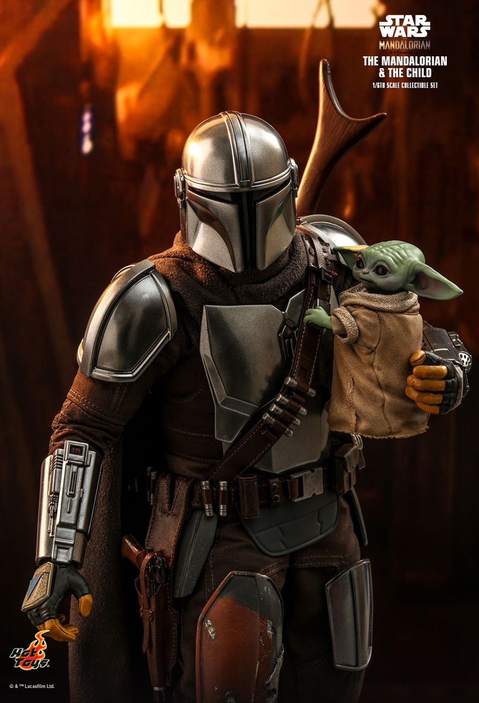 Check out all this images of the 6th scale Mandalorian and Child.