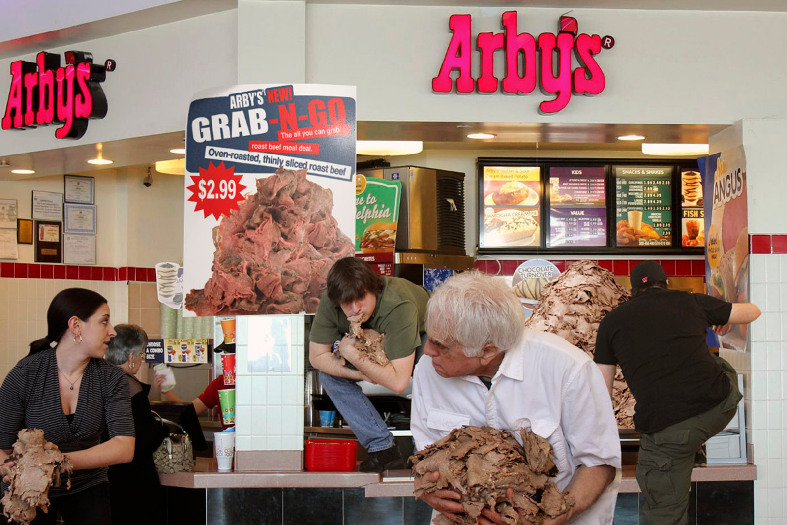 Arby's Now Charging $2.99 To Let Customers Go Behind Counter, Grab Handfuls Of Roast Beef