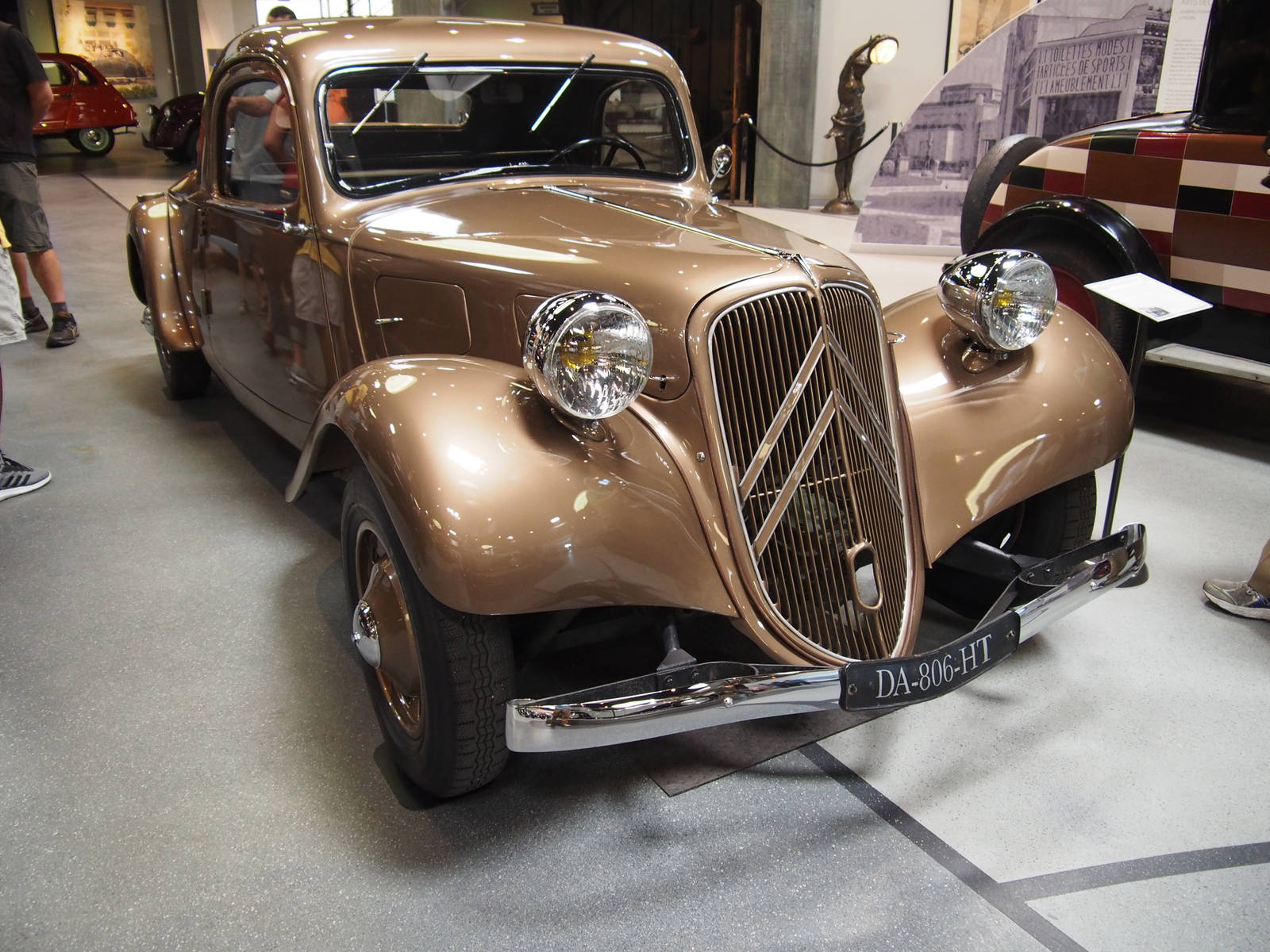 """1938 Citroën 11B Traction Avant Coupe. This is a rare, long wheelbase 11B """"Normal"""" with a rumble seat. The rumble seat TA coupes were only built before WWII."""