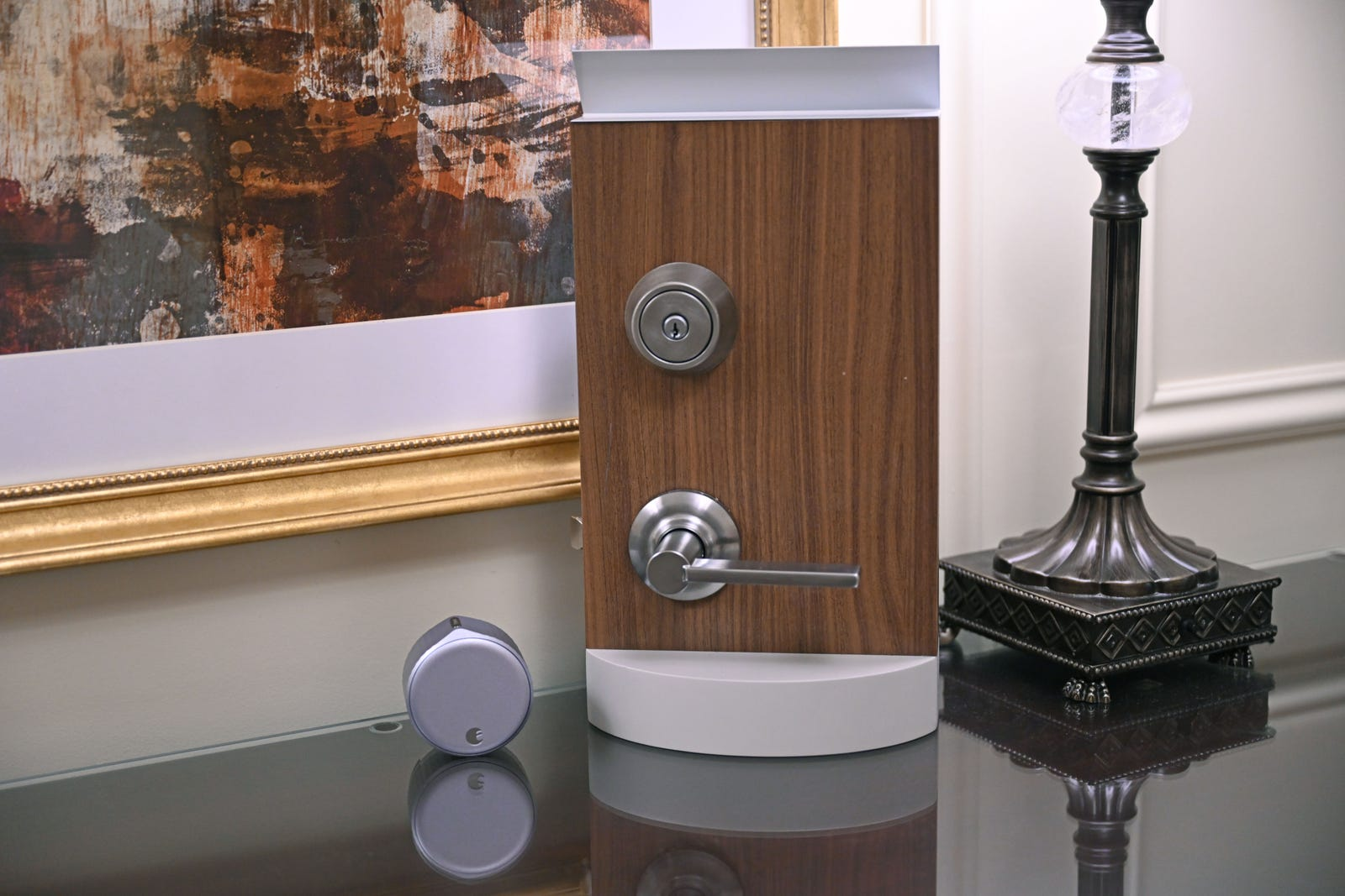 Because the Wi-Fi Smart Lock fits over the latch in the inside of your door, your deadbolt looks unchanged from the outside.