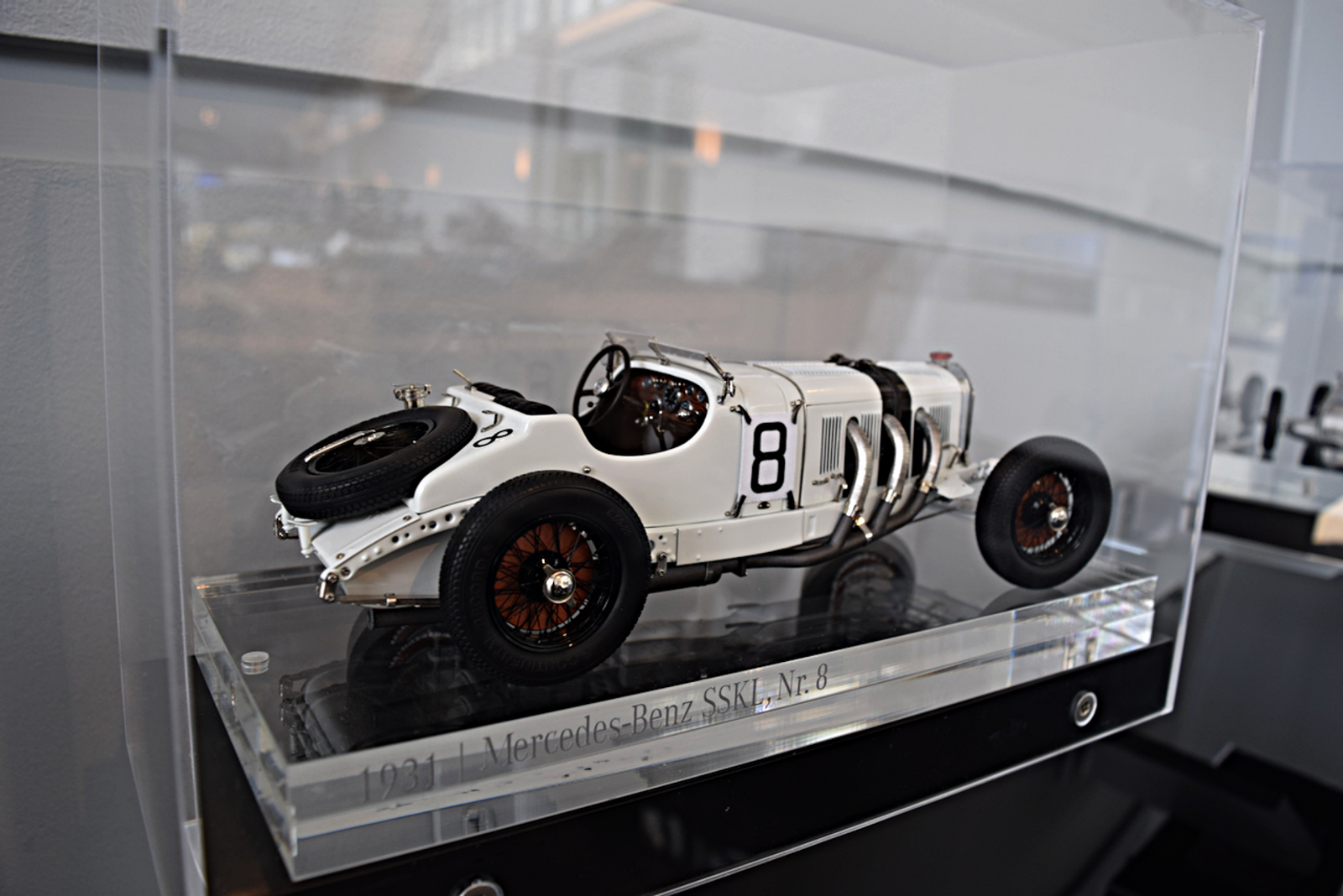 Due to rarity, the museum did not have any of the actual historic racecars, but rather, detailed scale models.