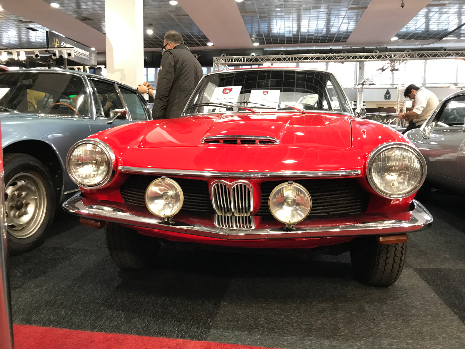 BMW 1600 GT. After BMW bought Glas, they kept building these beautiful cars for a whlle powered by their own 1600 motor. A little smaller than the old Glas engine, but easier to manufacture since most stuff at Glas was still built by hand.