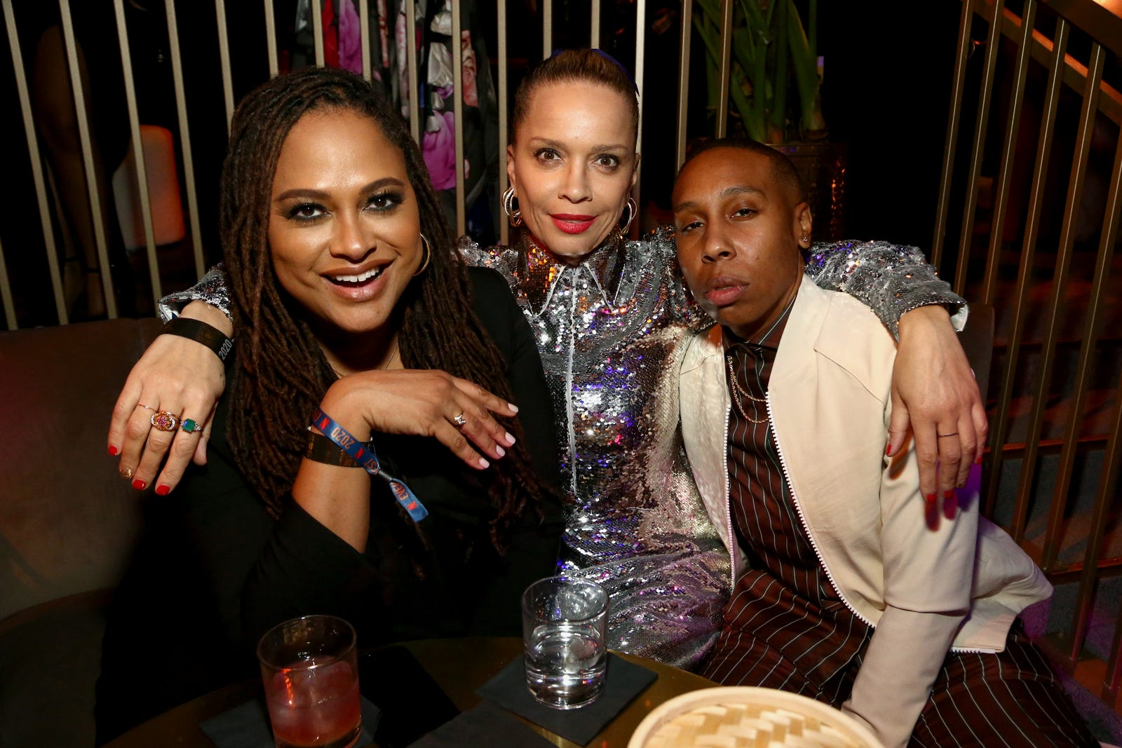 Ava DuVernay, Victoria Mahoney and Lena Waithe attend the Netflix 2020 Golden Globes After Party on January 05, 2020 in Los Angeles, Calif.