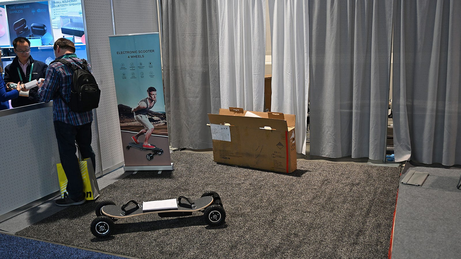 The saddest booth at CES 2020 courtesy of Ogrand Industrial Limited.