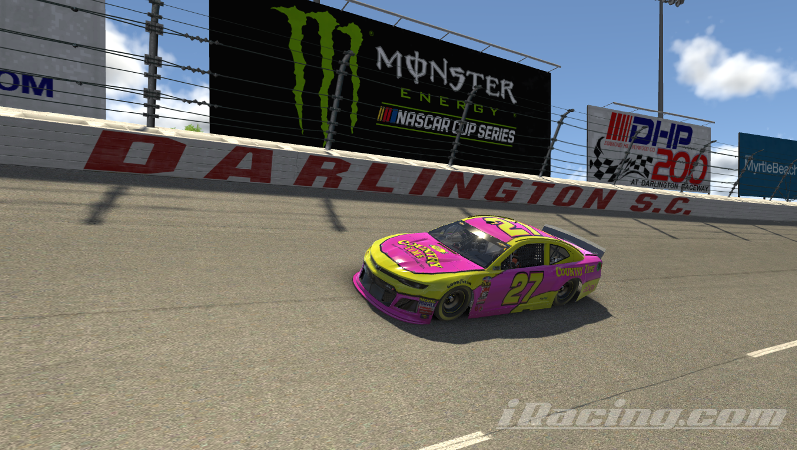 Team Oppo will race a throwback to Neil Bonnett's 1994 Country Time Lemonade Chevrolet at the virtual NASCAR throwback weekend at Darlington