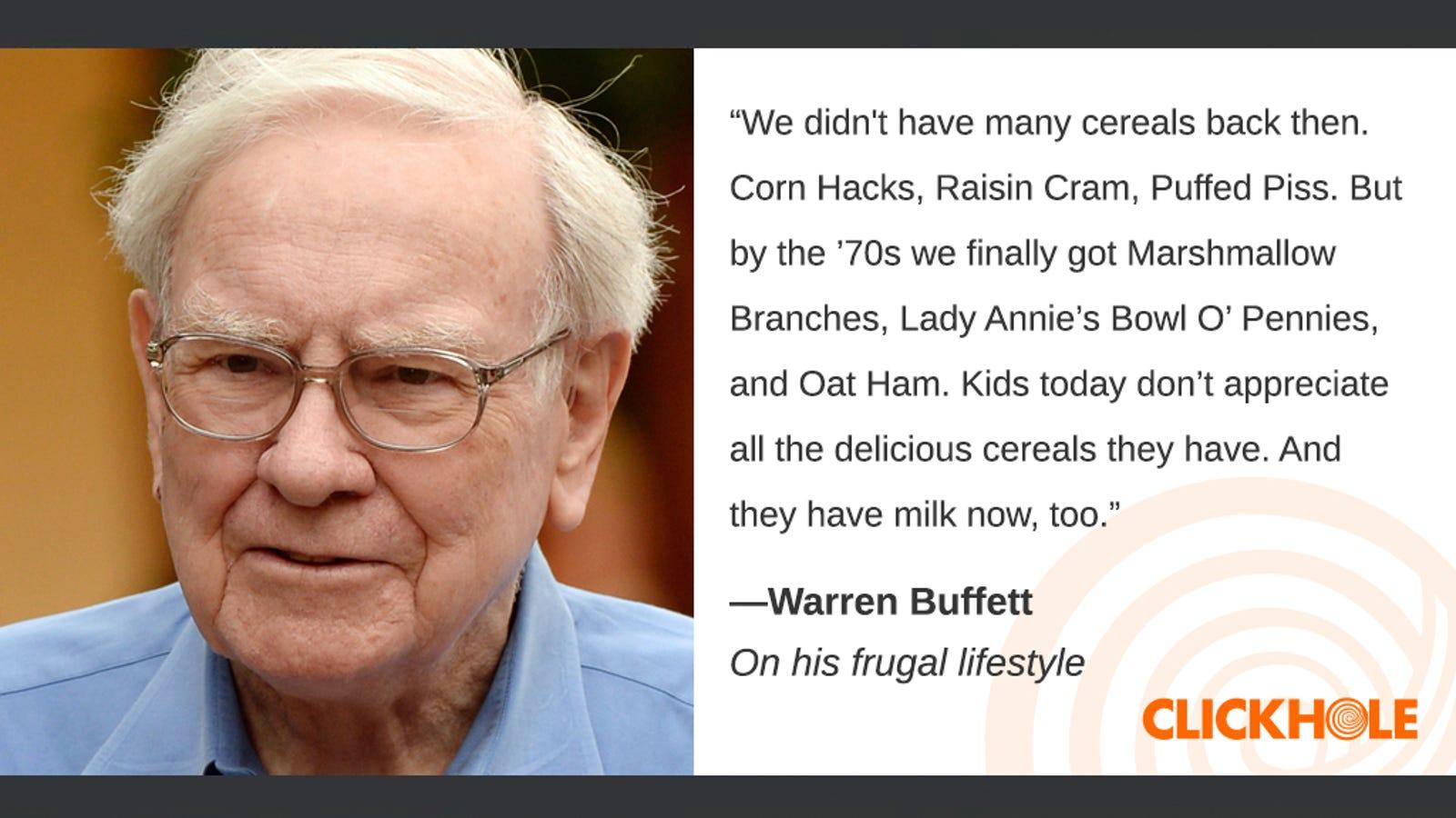 Illustration for article titled Find Out What Warren Buffett, em/emReese Witherspoon, And em/emNancy Pelosi Have To Sayem/em