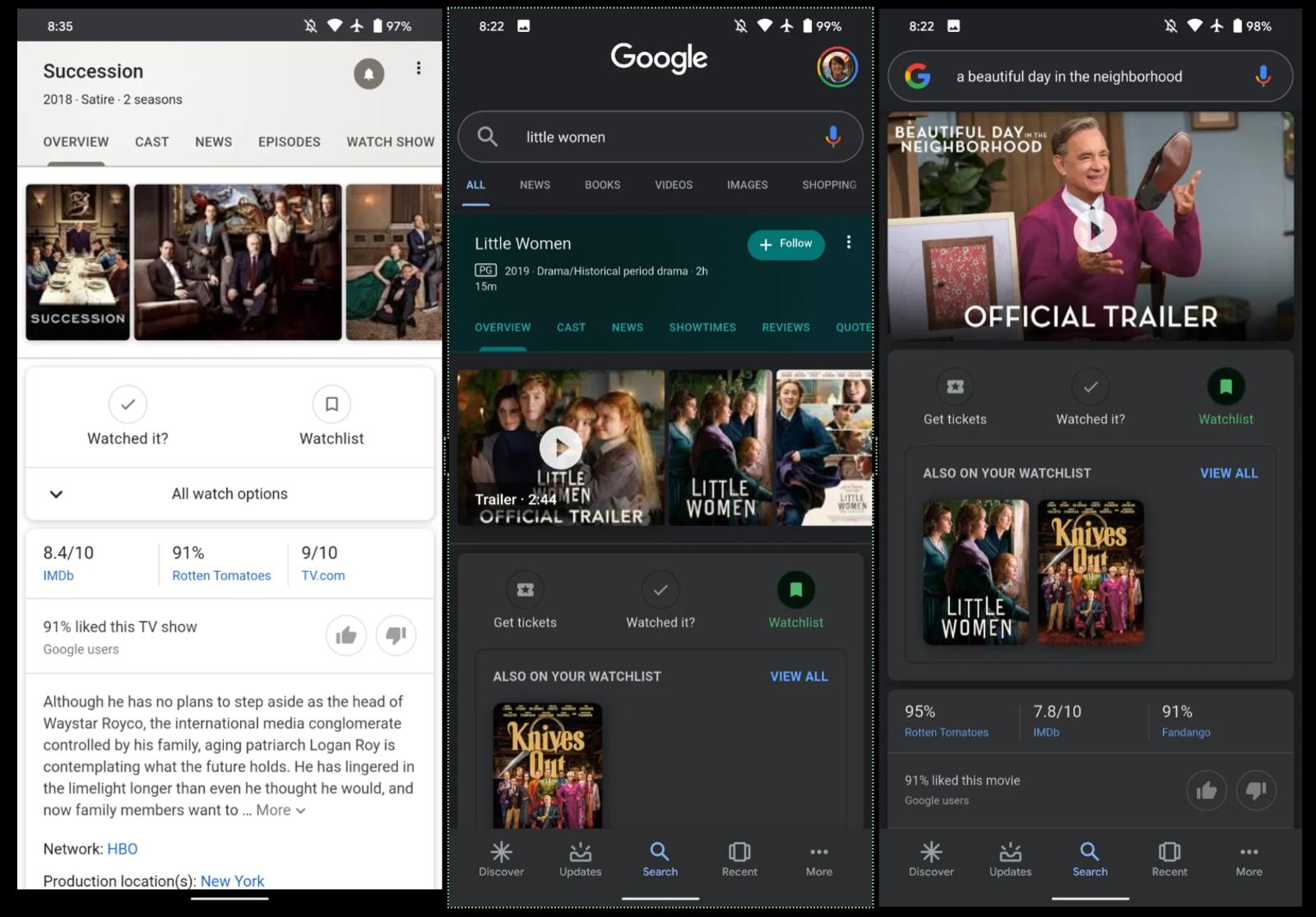 Illustration for article titled Ahora puedes crear listas de seguimiento de series y películas directamente en Google