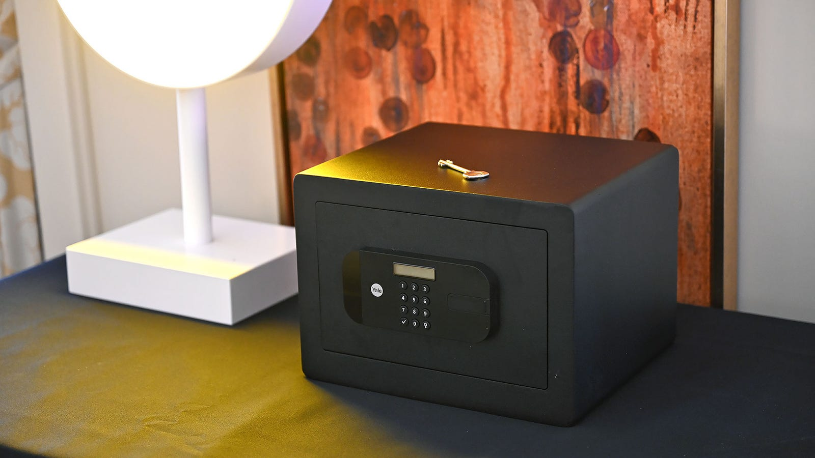 Finally, the Smart Safe is pretty much a standard safe with built-in Bluetooth support (and wi-fi when paired with a $50 bridge).