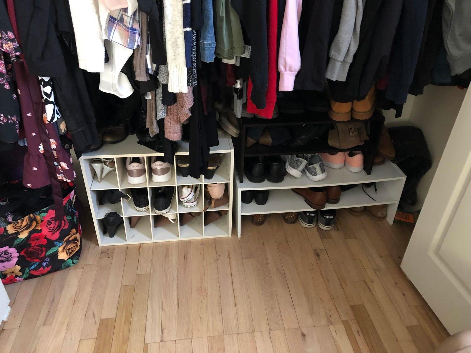 My closet before.