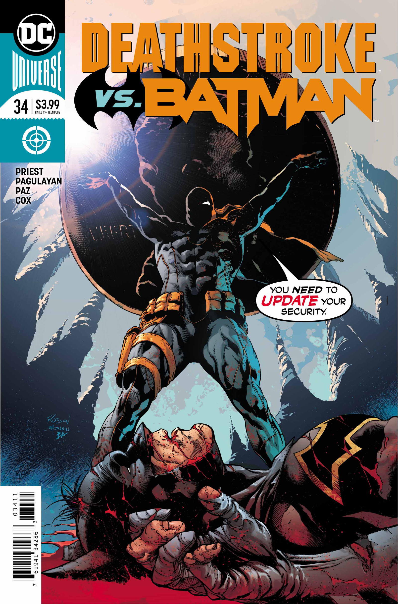 Cover by Robson Rocha, Daniel Henriques, and Brad Anderson