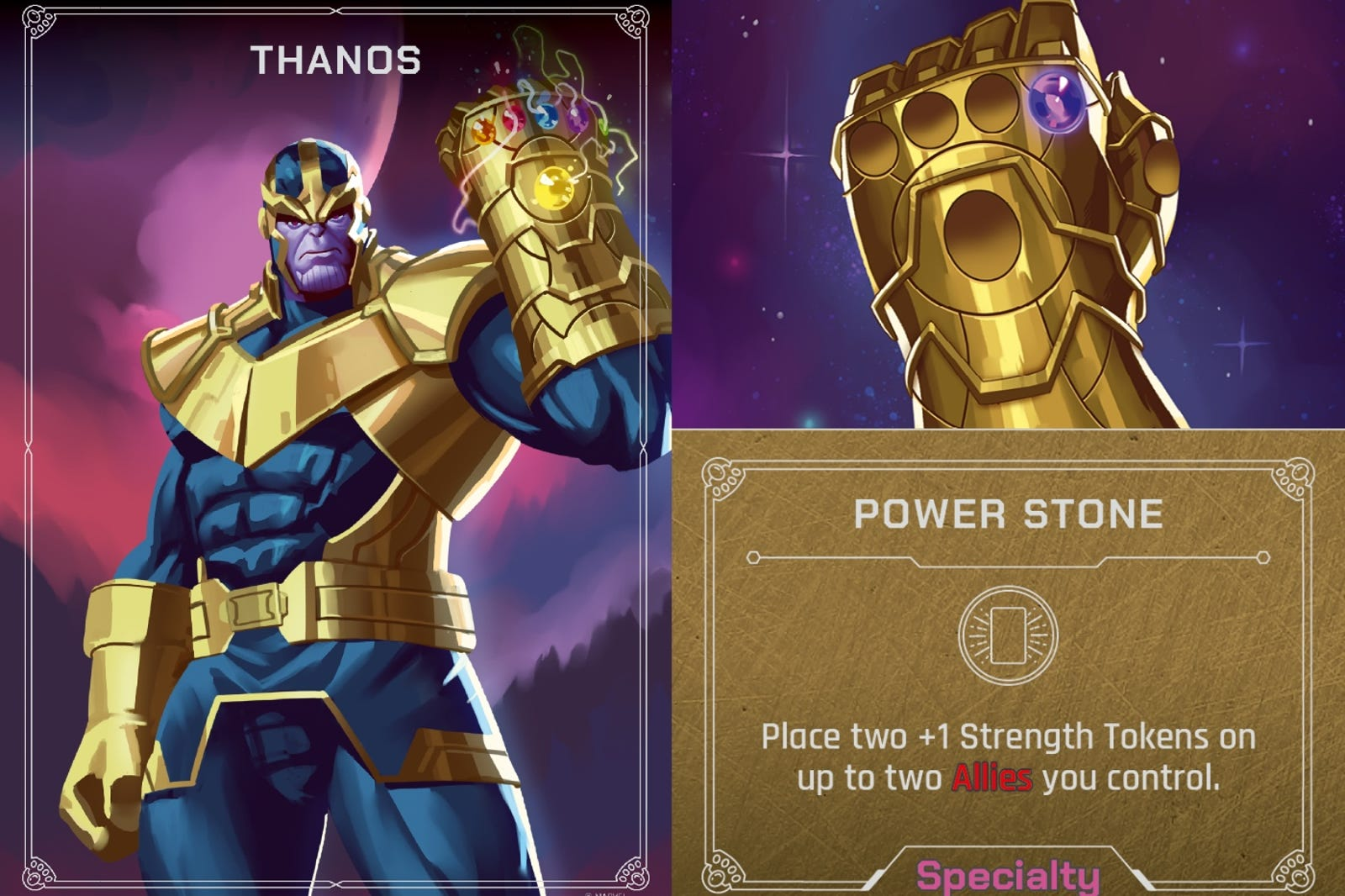 Artist Johnny Morrow worked on the Thanos deck.