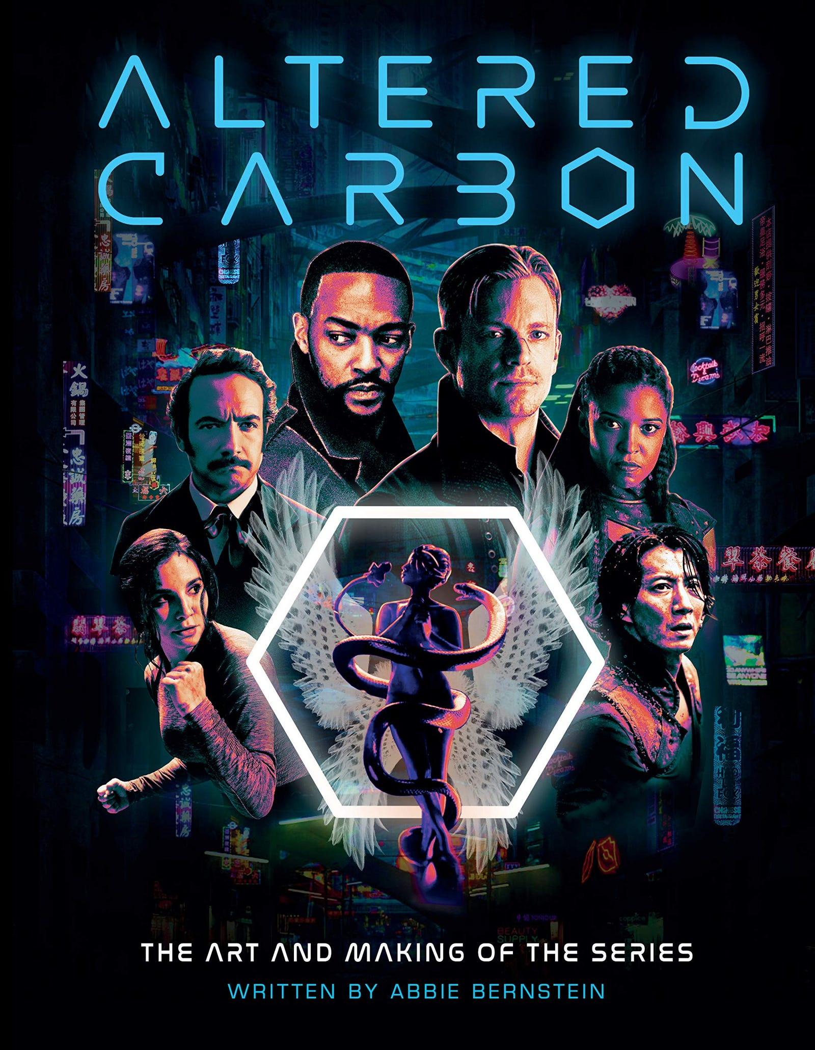 The book cover for Altered Carbon: The Art and Making of the Series.