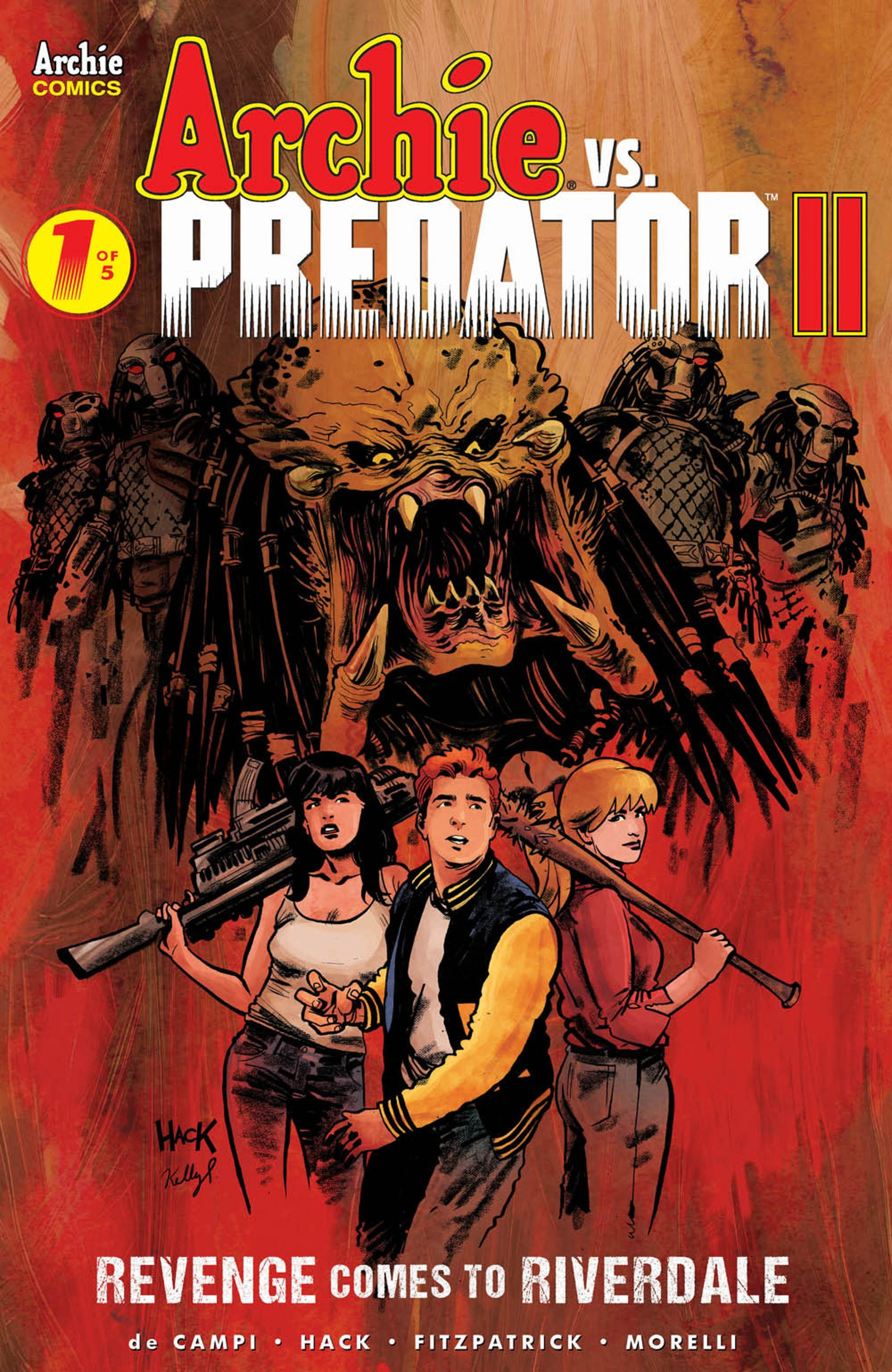 Every variant cover for the first issue of Archie vs. Predator 2.