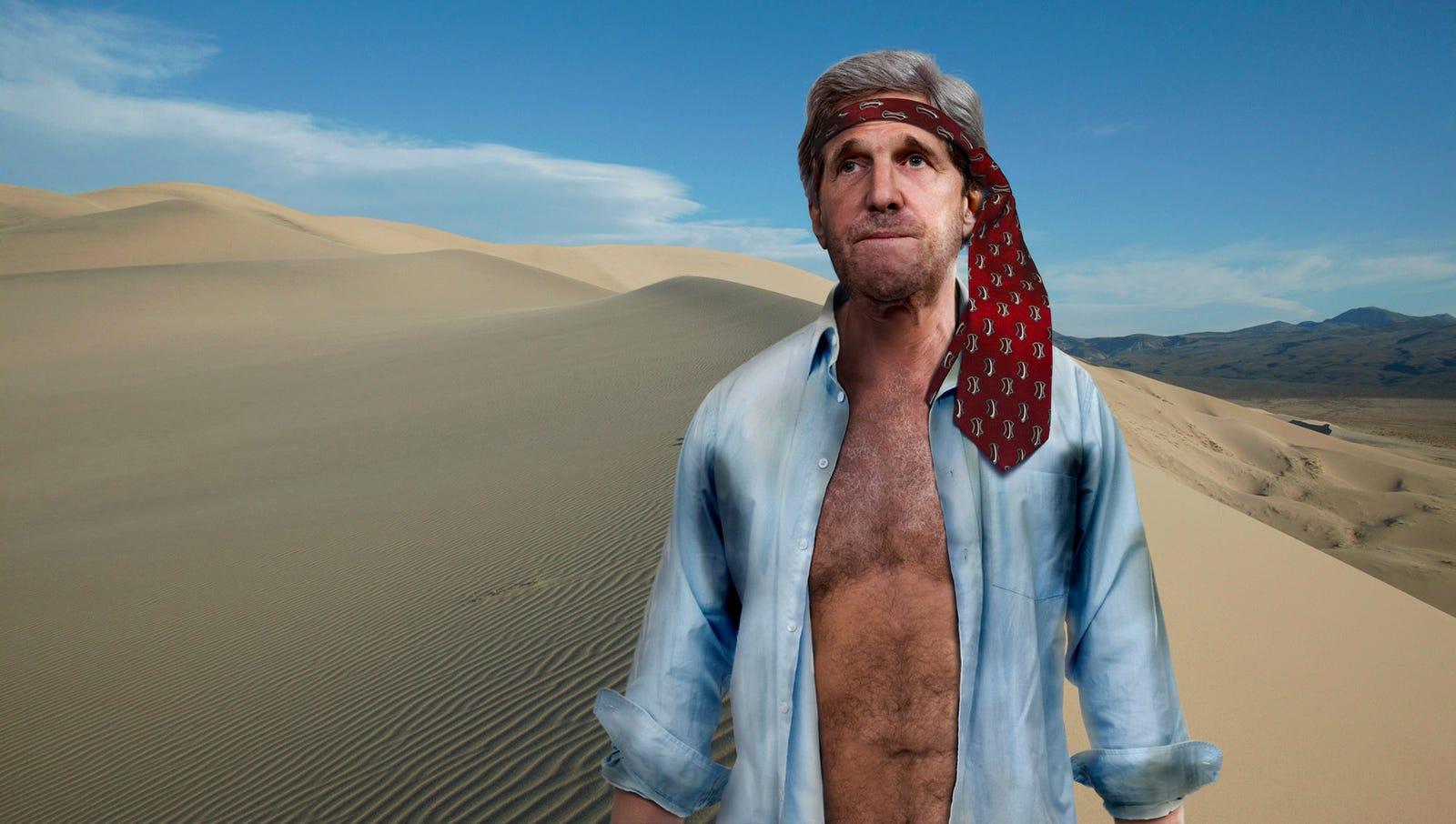 John Kerry Lost Somewhere In Gobi Desert