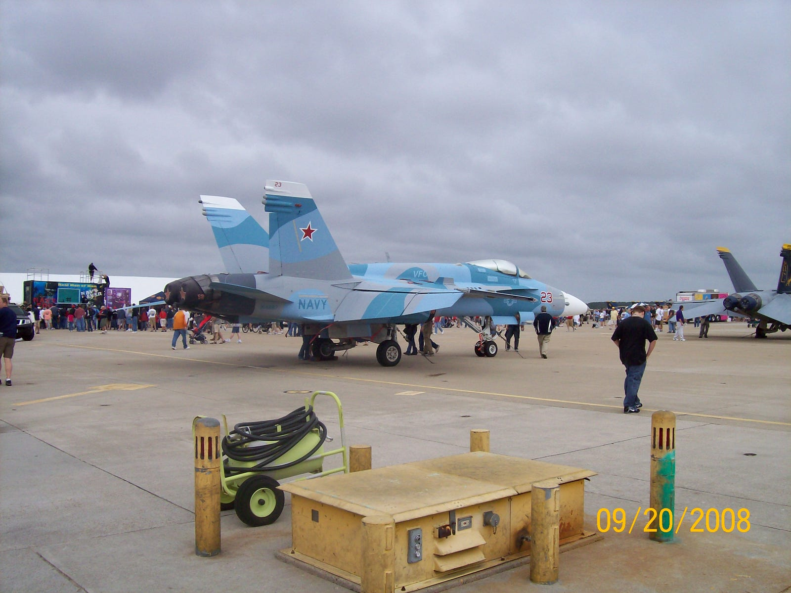 There were, unsurprisingly, a lot of F/A-18s. This F/A-18C is painted to look like an Su-27.
