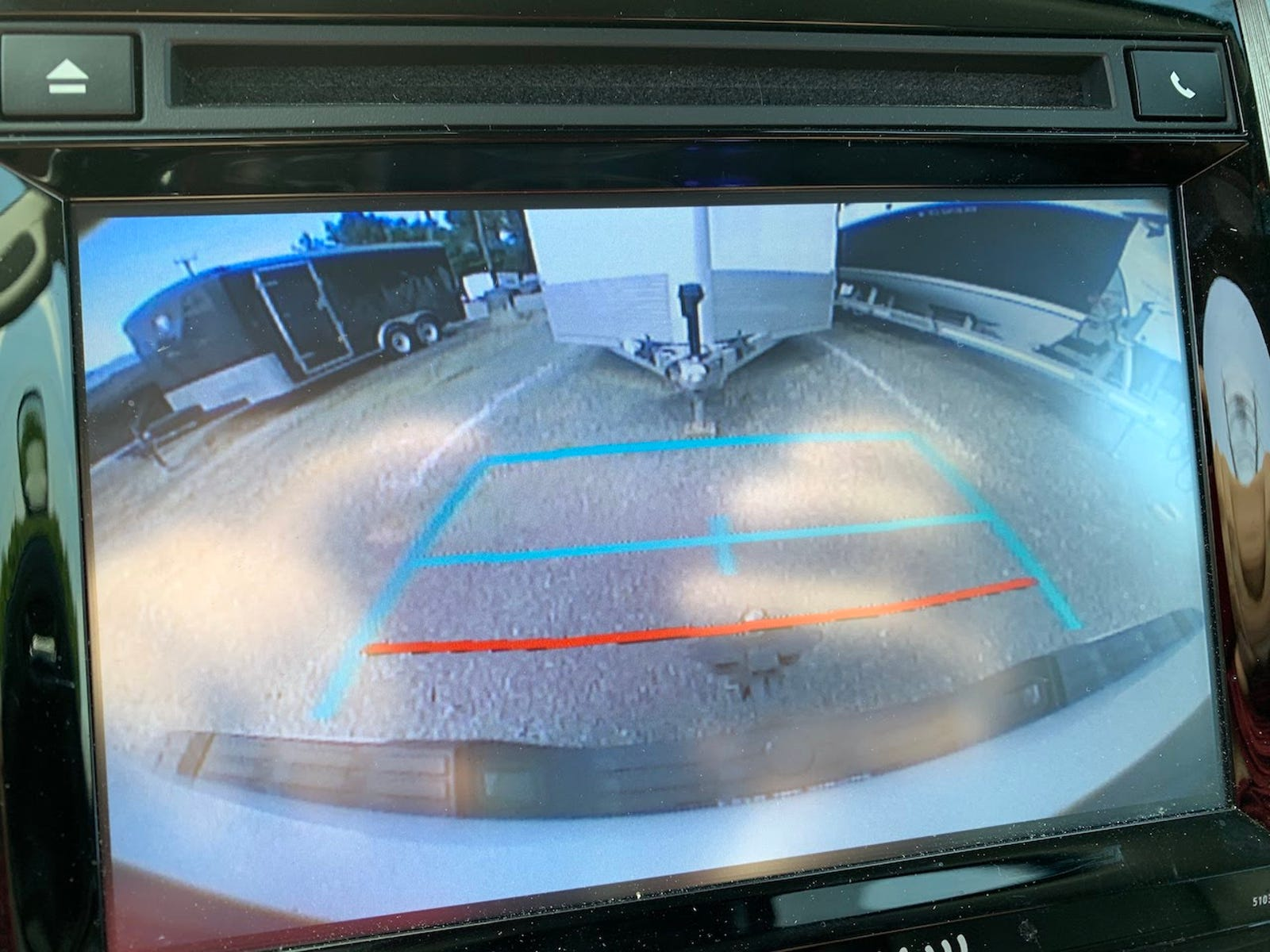 Backup camera is low-res on a slightly-small screen