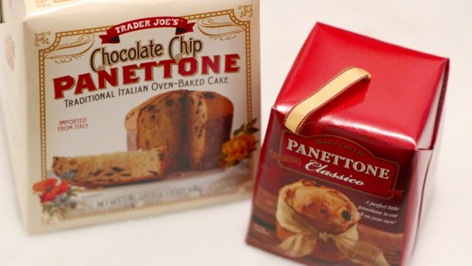 Chocolate Chip Pannetone ($4.49) and Pannetone Classico Mini ($1.79)