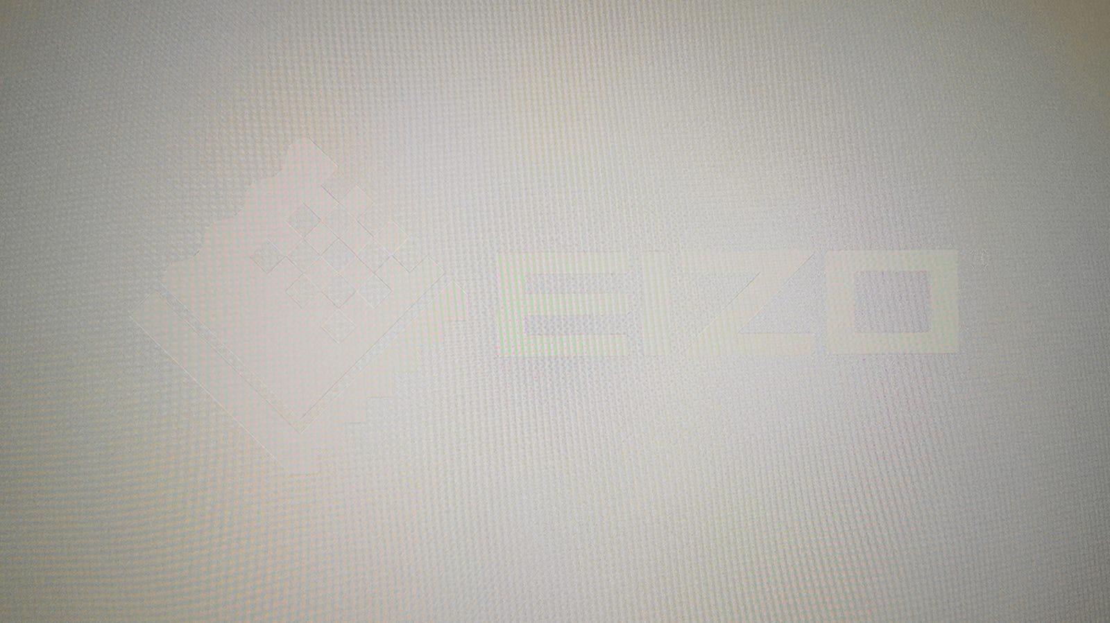 El logotipo del test para monitores Eizo, visto de frente.