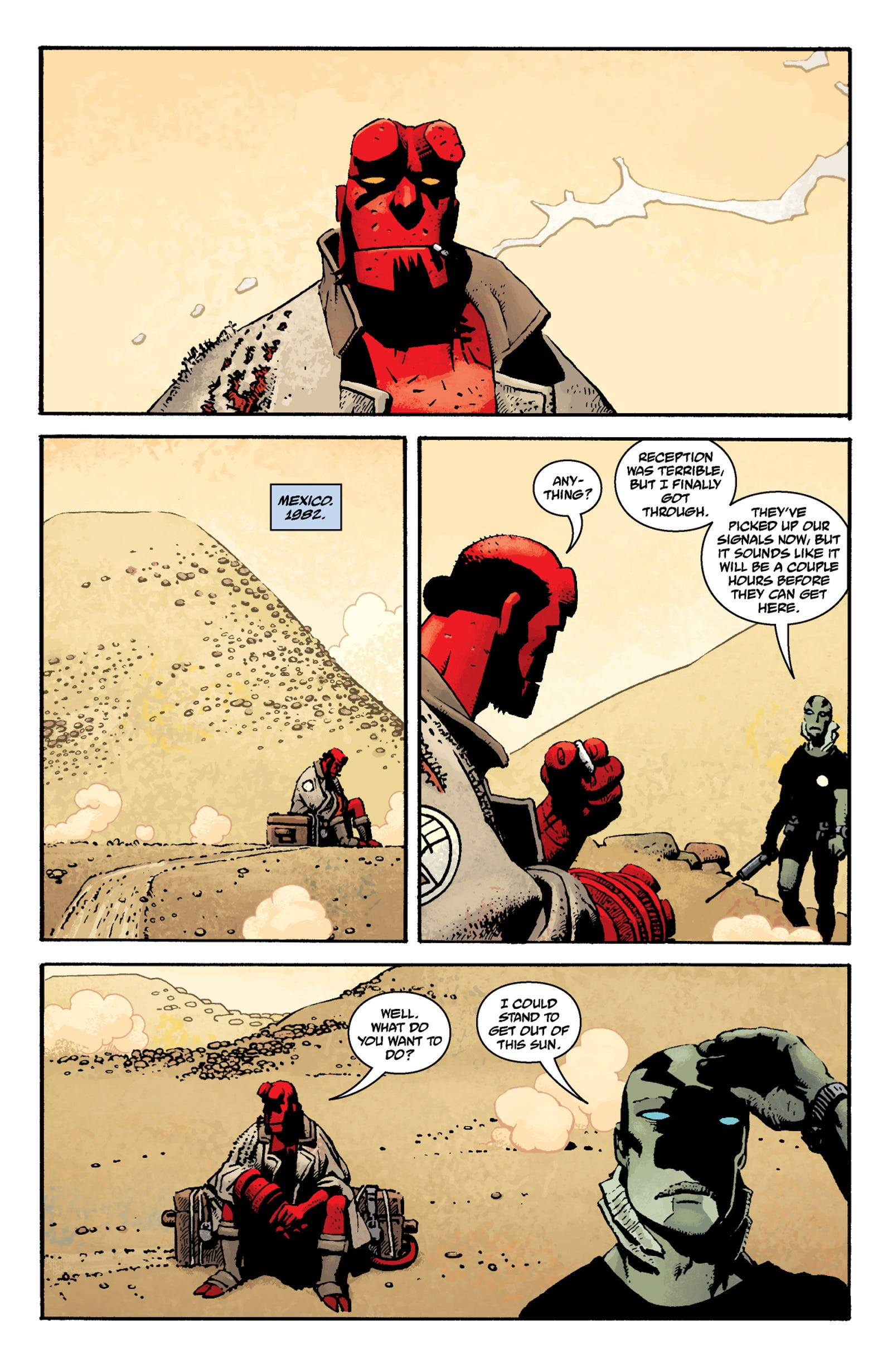 Read the first seven pages of Hellboy in Mexico right here!