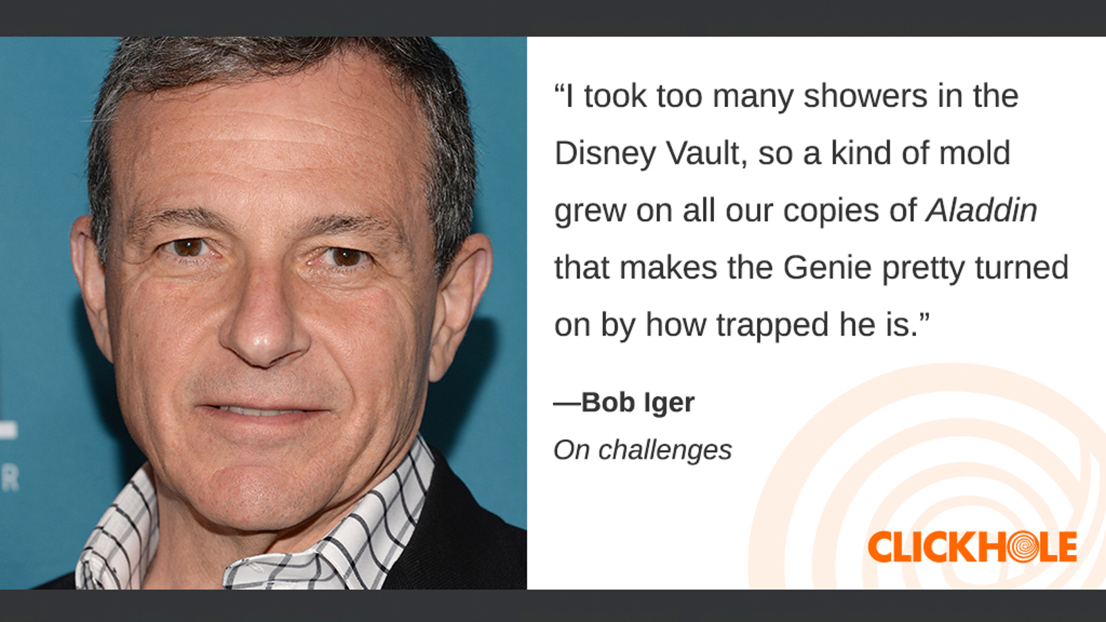 Illustration for article titled Find Out What Bob Iger, Chris Hardwick, M. Night Shyamalan, And More Have To Say