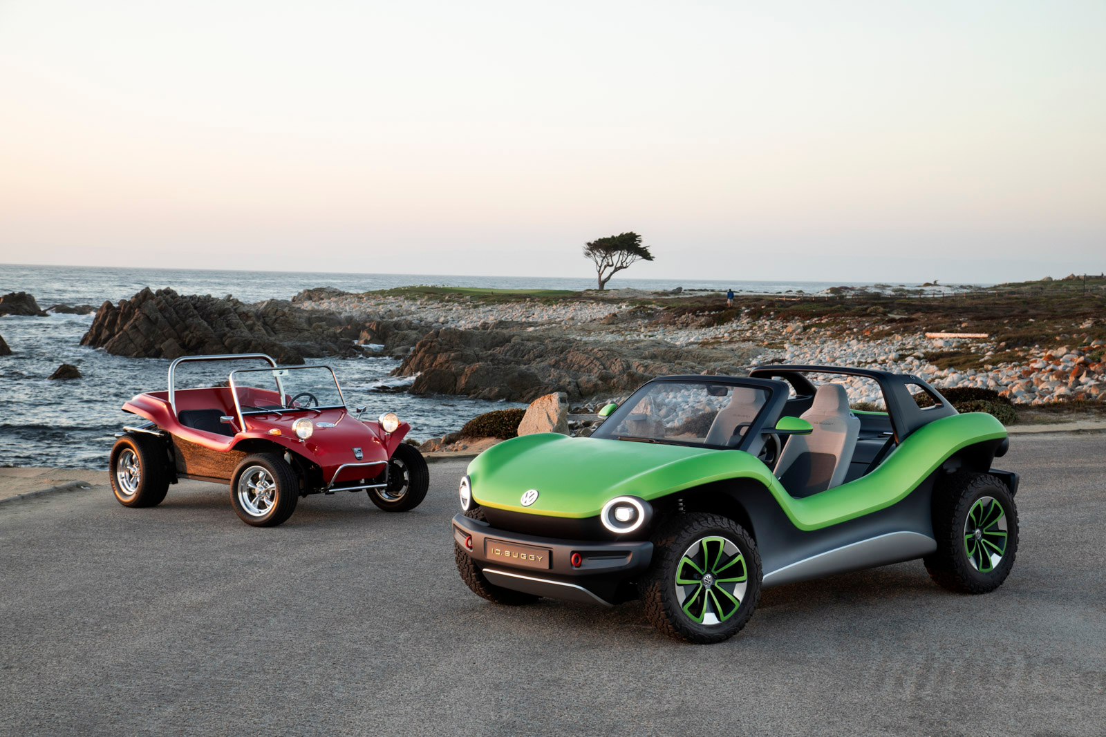 Illustration for article titled VWs Electric Dune Buggy Finally Made It To The Beach