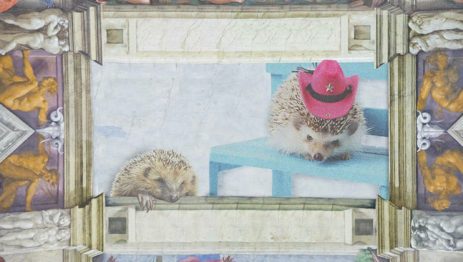 1508-1512: In what is considered one of the highlights of Renaissance slideshows, Michelangelo adorns the ceiling of the Sistine Chapel with detailed scenes of hedgehogs having a worse day than you.