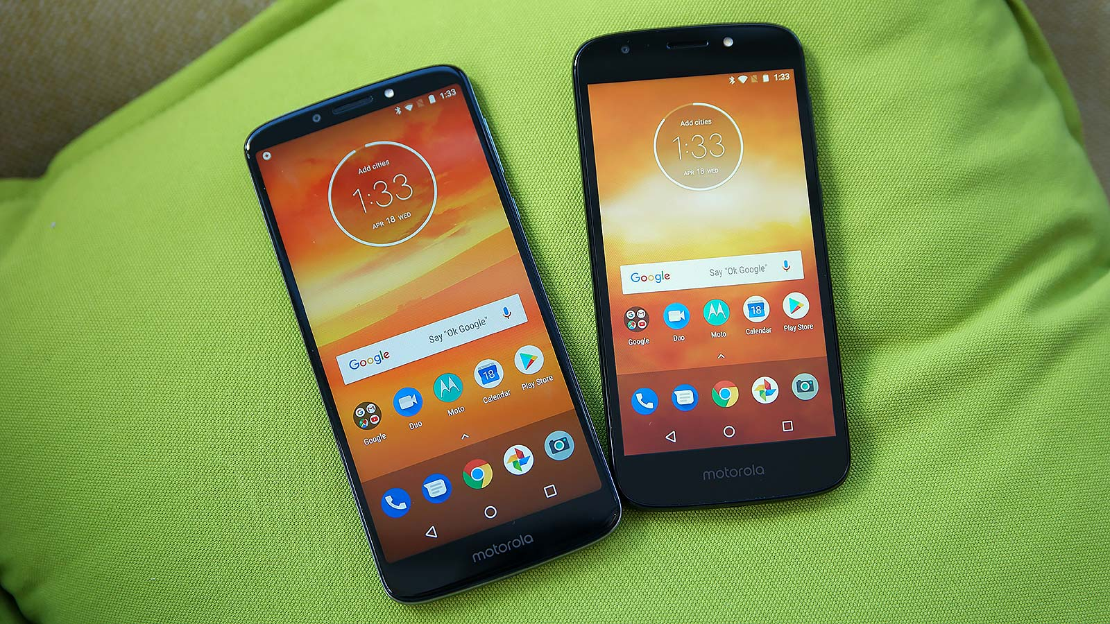 For phones that should cost around $150 (or maybe even less), the E5 Plus (left) and E5 Play don't look too shabby.
