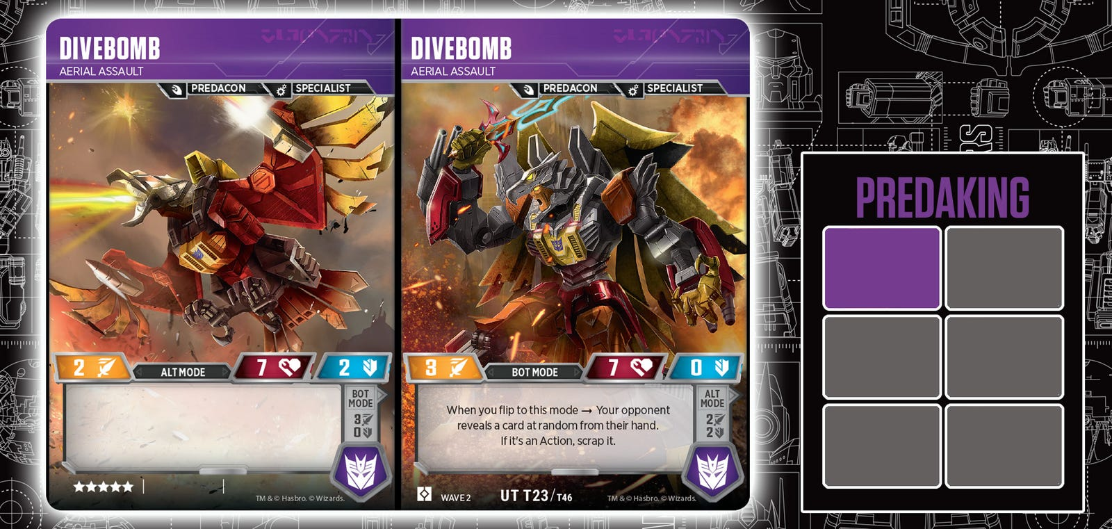 Illustration for article titled Five Transformers Trading Cards Combine To Form Predakingem/em