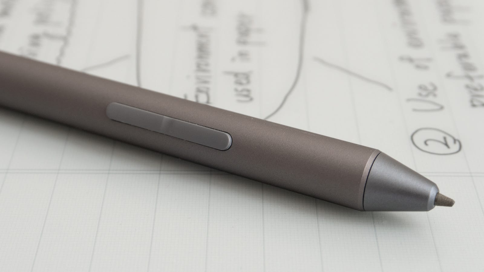 The DPT-RP1's stylus includes two additional buttons for quickly accessing additional functions like erasing notes, or highlighting text.